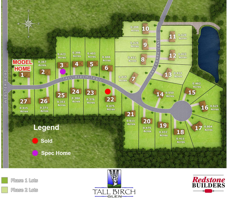 Tall Birch Glen layout map